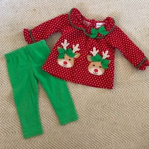 Christmas Reindeer Top & Leggings